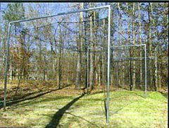 sporting goods, tennis nets, batting cages, soccer goals, batting cages